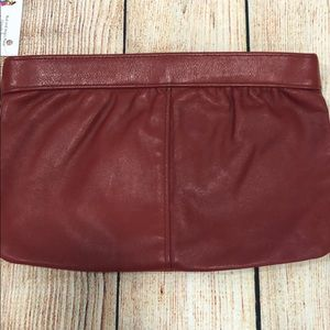 Handbags - Vintage red leather clutch